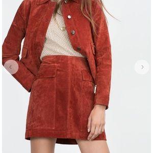 Zara Suede Mini Skirt